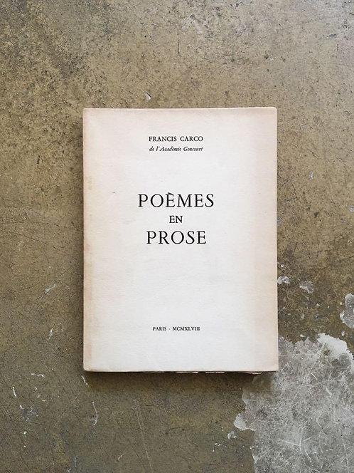 "CARCO Francis ""Poèmes en prose"""