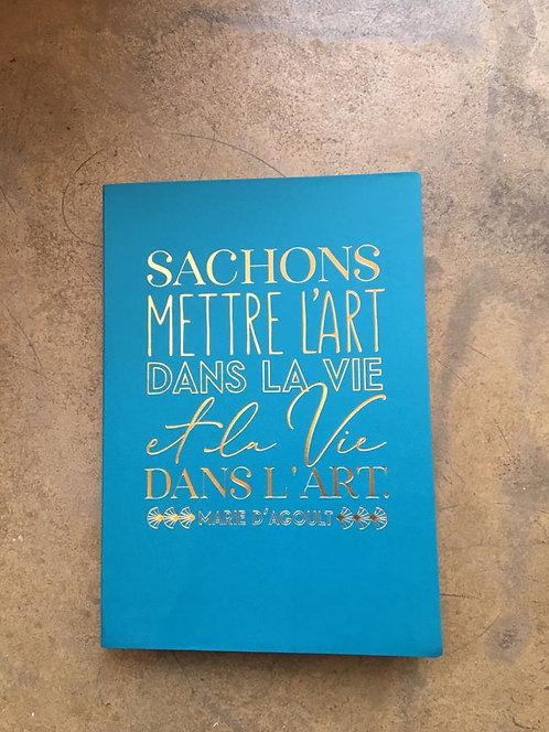 "Cahier collection ""Art et Kraft Leitmotiv"" Marie d'Agoult"