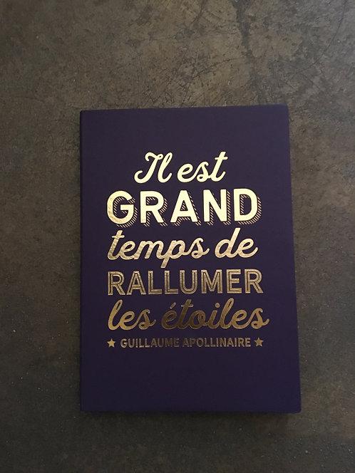 Cahier citation Guillaume Apollinaire