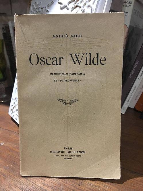"GIDE  André  ""Oscar WILDE"""