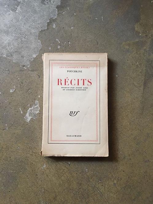 """POUCHKINE  Alexandre """"Récits"""""""