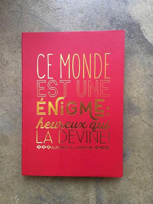 """Cahier collection """"Art et kraft Leitmotiv"""" Alphonse de Lamartine"""