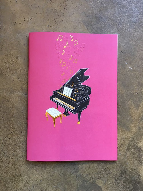 """Cahier A5 collection """"Icônes"""" PIANO"""