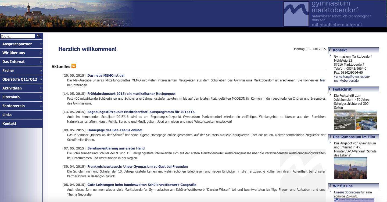 Die Homepage unseres Gymnasiums