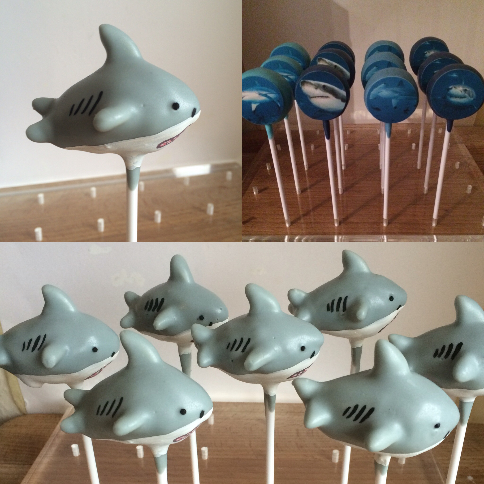 Great White Sharks and printed Shark