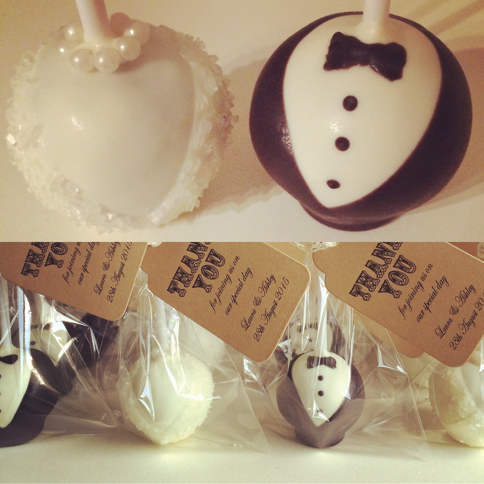 Bride and Groom Wedding Favours