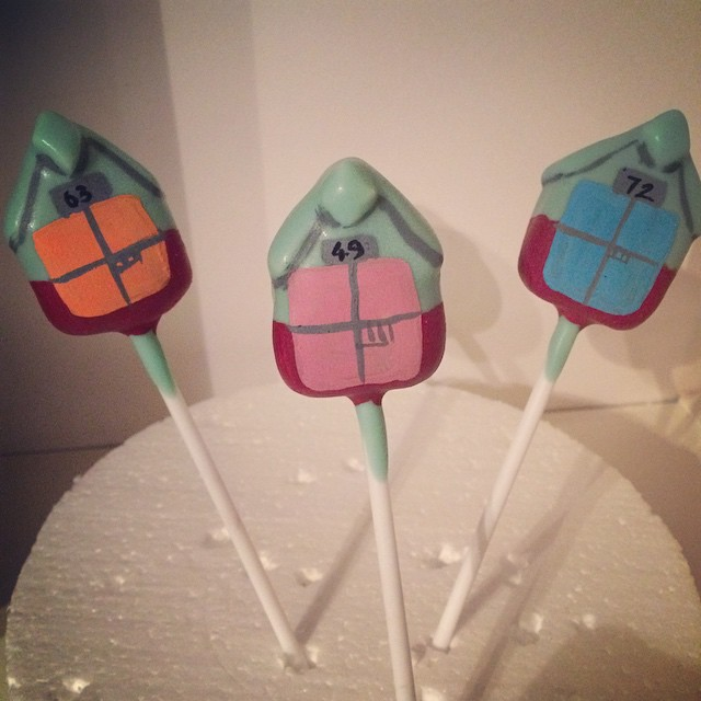 Instagram - Beach huts #hove #Brighton #cakepops @bakedhove this week along with some #seagulls #cho