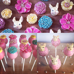 Cute Bunnies and Pink Florals