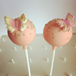 Pretty Pink and Gold Butterflies