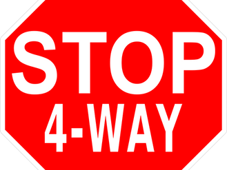 Temporary Four-Way Stop in place on 3rd Street NE and 5th Avenue NE on Monday, September 27th.