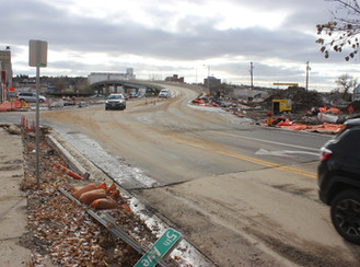 Third Street, at Fifth Avenue intersection, open to traffic