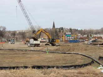 Work underway on massive storm water pump station next to Broadway