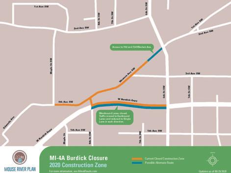 Temporary lane closures on Burdick Expressway to start Thursday