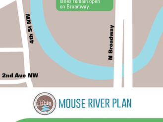 Temporary closure of Third Avenue NW set for June 22nd, 2020