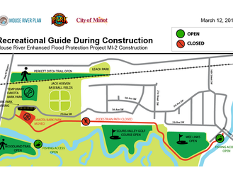 Mouse River Enhanced Flood Protection Project (MREFPP) MI-2 Construction Will Temporarily Impact Rec