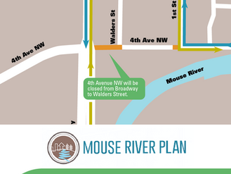 Temporary closure on 4th Avenue NW to start Monday, June 7th