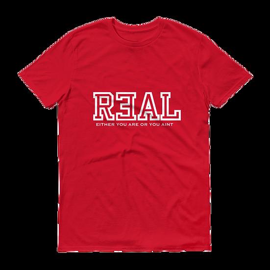 R3AL SHORT SLEEVE- (RED)