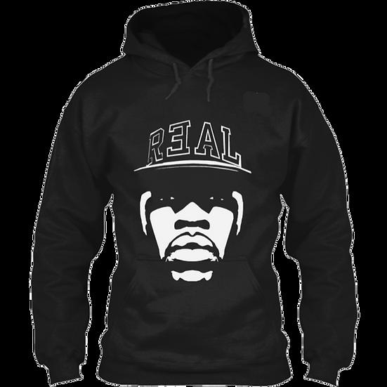 R3AL HOODIE- BLACK