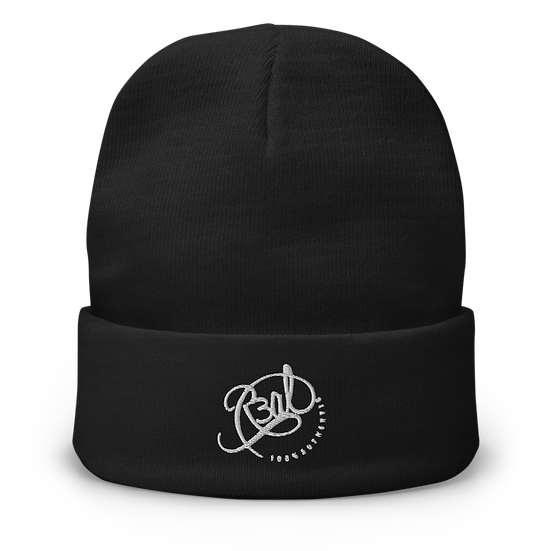 R3AL 100% Authentic Embroidered Beanie