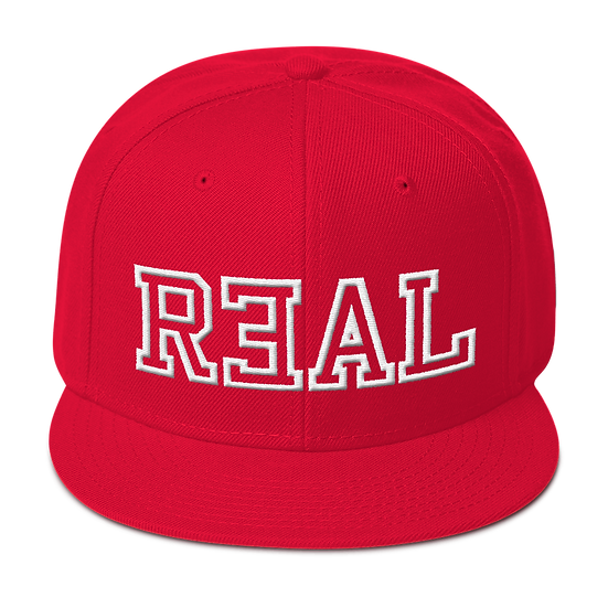 #R3AL SNAPBACK- RED