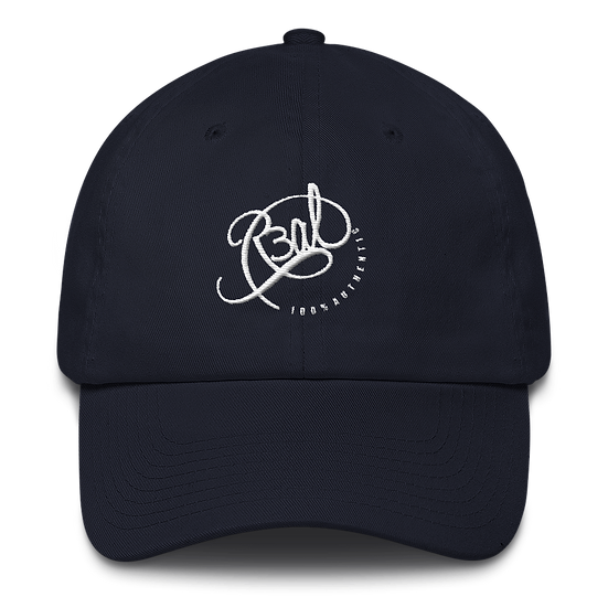 100% AUTHENTIC DAD HAT- NAVY