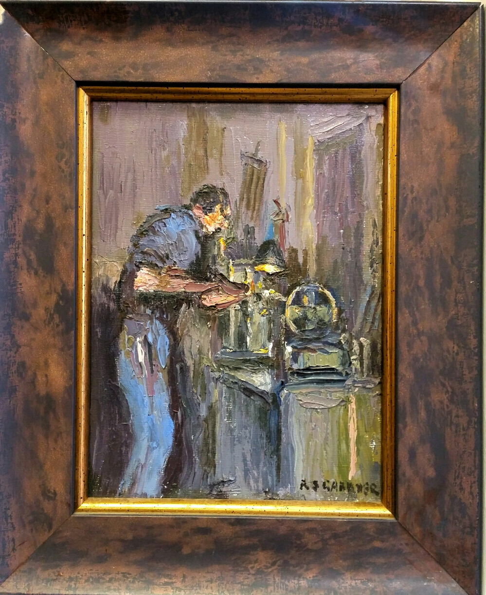 Man at Lathe I