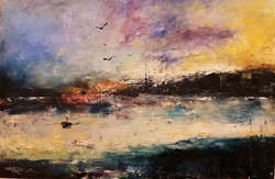 Dusk Venecian Lagoon