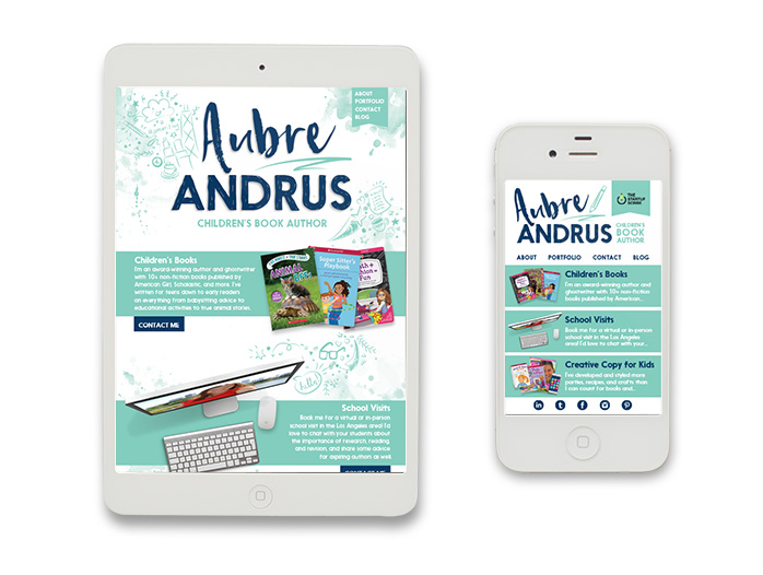 Aubre Andrus, LLC Website Re-Design