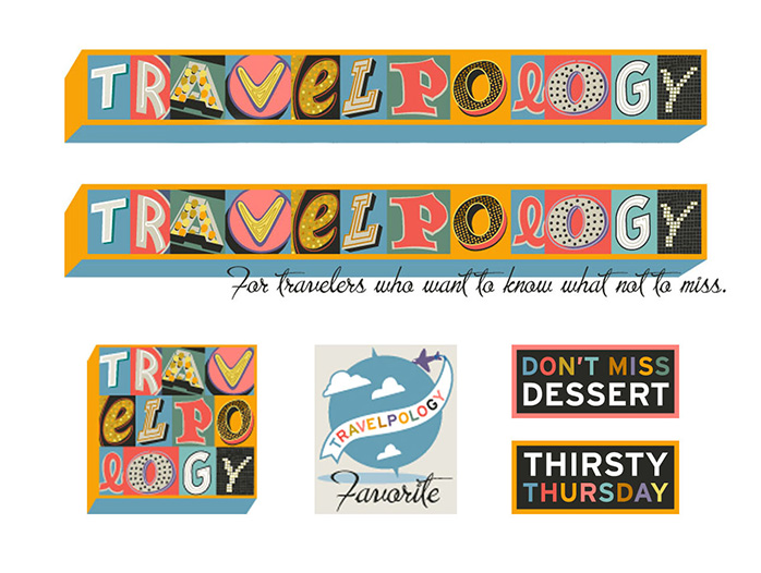 Travelpology Blog Header and Icons