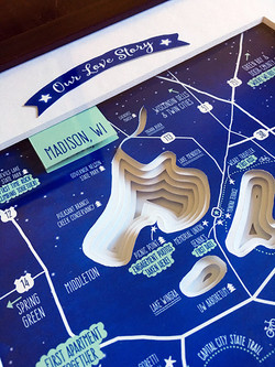 Topographic Map Wedding Gift