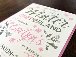 Evelyn's 1st Birthday Party Invite
