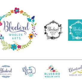 Bluebird Woolen Arts Logo