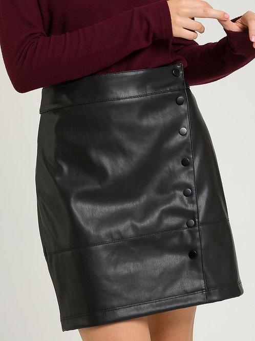 Falda mini botones