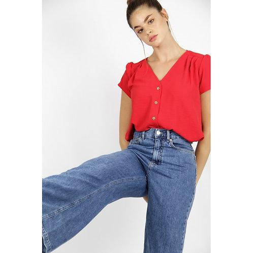 Blusa Cornalina rojo
