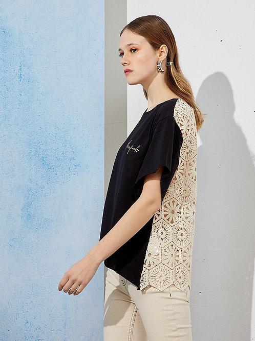 Camiseta espalda crochet