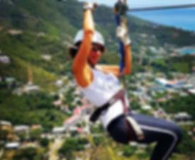 Work hard, play hard!! 🌞😎_#actorslife #ziplining #paradise