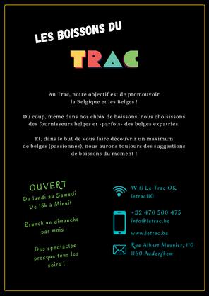 Info Menu Boissons