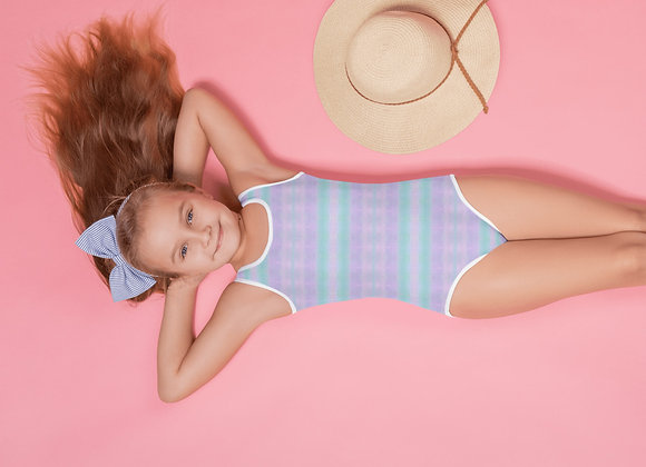 All-Over Print Pastel Kids Swimsuit