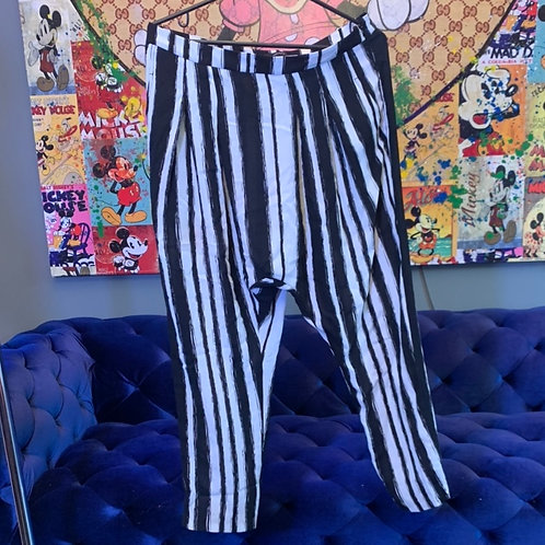 Black and White Striped Pants Size L