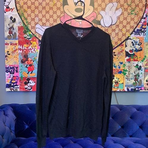 Merino Wool V Neck Sweater Size L