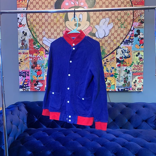 Royal Blue Button Up Jacket Size S