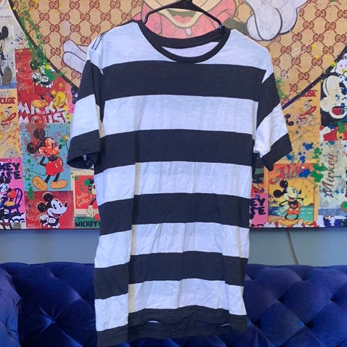 Black and White pinstriped shirt from Forbidden Tour Size M