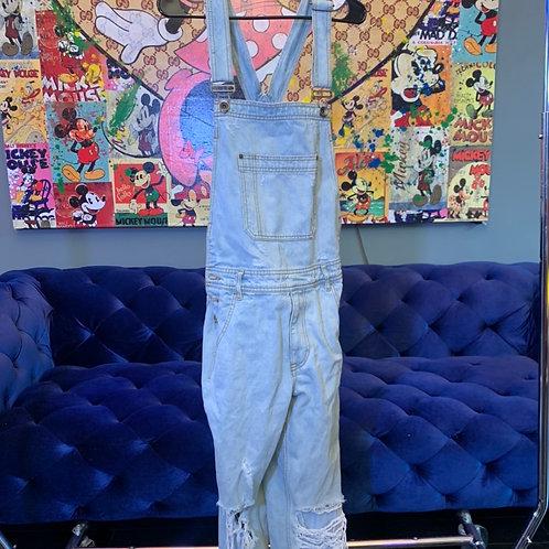 Light denim overalls  size 29 x 22