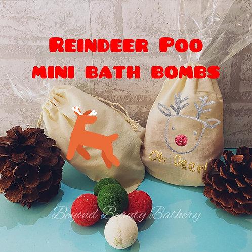 Reindeer Poop Mini Bath Bomb Bag