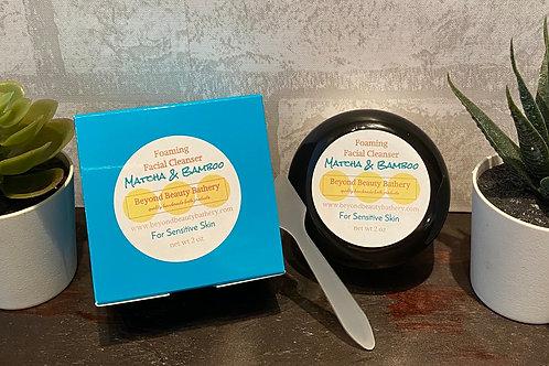 SENSITIVE SKIN - Matcha and Bamboo Foaming Facial Cleanser