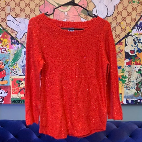 Red Sequin Sweatshirt Size S