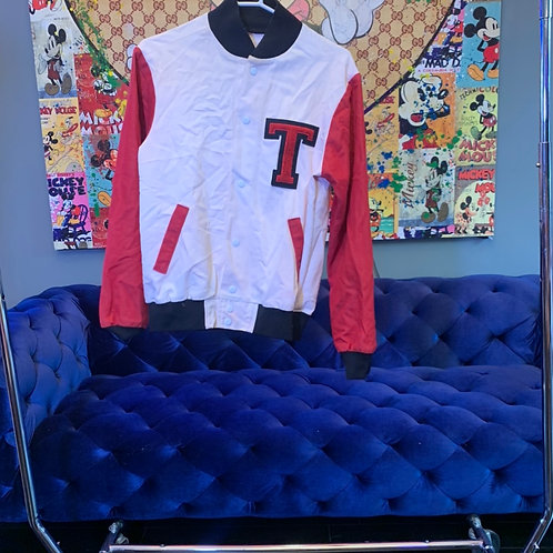 Custom Canvas Letterman Red Sleeves Size M