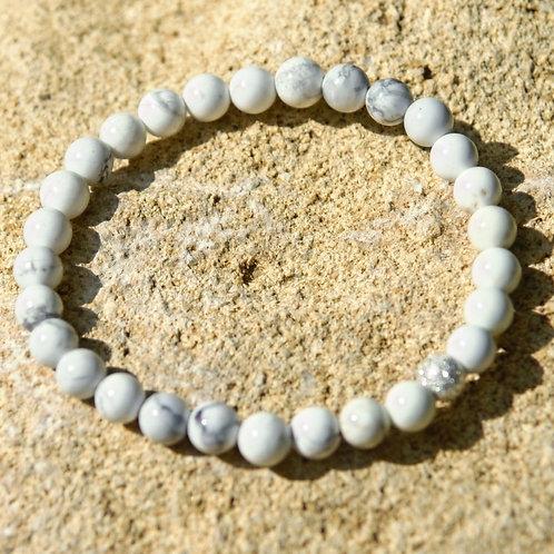 Armband, Bracelet: Magnesit Silber 925