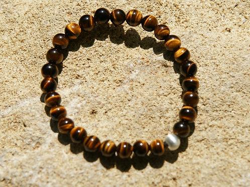 Armband, Bracelet: Tigerauge Silber 925