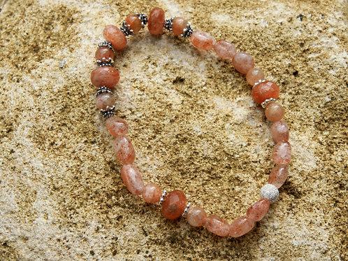 Armband, Bracelet: Sonnenstein Silber 925